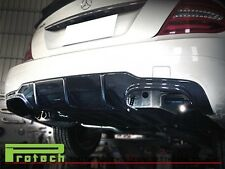 C63AMG Style Carbon Fiber Add On Bumper Diffuser 2012-2014 C250 C350 Coupe 2Dr