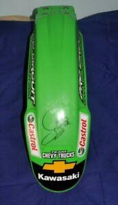 2002 BUDDS CREEK JAMES STEWART SIGNED RACE USED FRONT FENDER