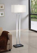 Artiva Usa Geometric 60-inch Chrome/ Black Contrast Floor Lamp