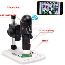 200X 1080P FULL HD Video WIFI USB TF Digital Microscope F iPhone Pad Android US