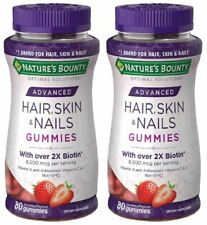 Nature's Bounty Optimal Solutions Advanced Hair,Skin,Nails, 2X Biotin, 2packs