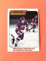 Mike Bossy 1978-79 Highlights O-Pee-Chee NHL Hockey Card #1 Islanders