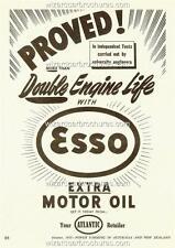 1955 AUSTRALIA ESSO ATLANTIC MOTOR OIL A3 POSTER AD ADVERT ADVERTISEMENT