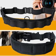 New Camera Waist Belt Padded Lens Bag Holder Case Pouch Holder Adjustable Belt