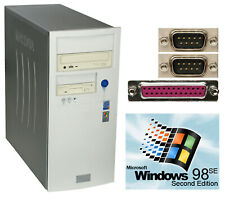 Computer F Windows 98 with Rs232 Lpt Parallel 1.44mb Fdd 80gb HDD Lan Sound 56