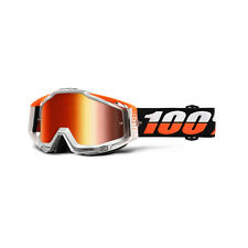 ACCESORIOS GAFAS PROTECTORAS SPORT BIKE 100% RACECRAFT ULTRASONIC ORANGE/WHITE