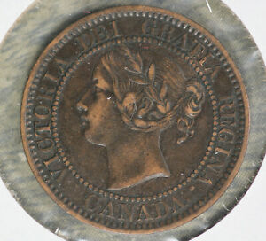 Nice Extra Fine Condition 1859 Canada Large Cent!!
