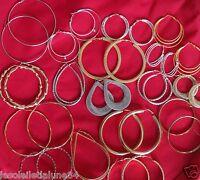 Lot revendeur 50 paires de boucles d'oreille créole anneaux NOUVELLE COLLECTION