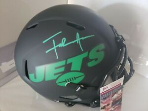 Jets Frank Gore Authentic Signed Eclipse Full Size Speed Rep Helmet JSA-COA 🔥🏈