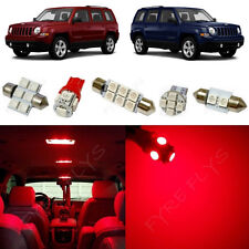 6x Red LED lights interior package kit for 2007-2017 Jeep Patriot JP1R