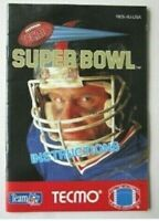 Nintendo NES Tecmo Super Bowl Instruction Manual Booklet Only -AB-39