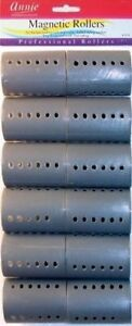 """ANNIE 2"""" GRAY MAGNETIC ROLLERS 12 CT. #1358"""