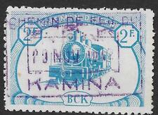 Belgian Congo stamps 1942 OBP CP19 Chemin de fer du BCK/KAMINA VF