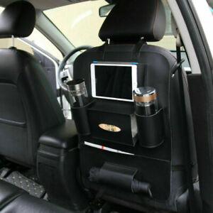 Car Back Seat Hanging Bag Storage Organizer Pocket Travel iPad Holder PU Leather