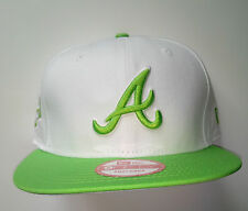 Casquette baseball Atlanta blanc vert Taille S/M snapback