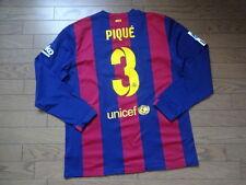 FC Barcelona #3 Pique 100% Original Jersey 2014/15 Home LS XL Sold Out Kit