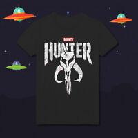 The Mandalorian The Punisher Bounty Hunters Star Wars HD135 Black T-Shirt