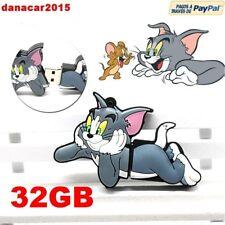 PEN DRIVE PENDRIVE DE TOM Y JERRY 32GB 32 GB MEMORIA USB(4 8 16 64 64GB GATO)