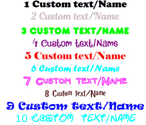 2x Personalised Custom Text or Names Vinyl Stickers