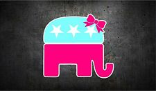 Republican elephant with bow 5'' vinyl car sticker decal l buy 1 get 1 free