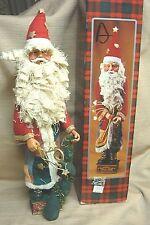 """19"""" Tall Santa Claus w/Rag Beard - Flannel & Burlap - $35.00 - in Box"""
