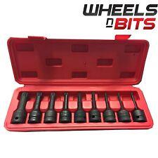 NUOVO 9 pezzi 1.3cm Drive IMPATTO punte Set di chiavi a bussola cromo vanadio
