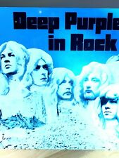 More details for deep purple in rock 12x12 inch metal sign