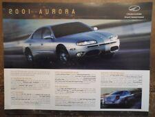 Oldsmobile Aurora Orig 2001 USA MKT ventas prospecto Folleto piloto