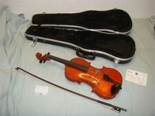 FREDERICK A STROBEL ML-105 VIOLIN WITH BOW AND CASE -SMALL CRACK -READ!