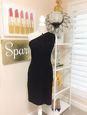 Pre-owned Women's St. John Collection Sparkle Tweed Black Dress, Size 4