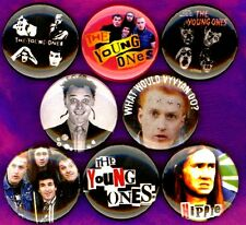 Young Ones x 8 NEW 1 inch pins buttons badges vyvyan rik mayall punk tv show BBC