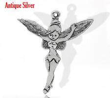 2 Pcs Antique Silver Fairy Charms Pendants 52x46mm LC1599