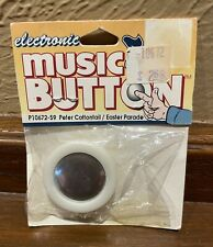NIP Electronic Music Box Button for Crafts Cards PETER COTTONTAIL/ EASTER PARADE