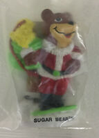 Post Super Sugar Crisp Cereal Sugar Bear Toy Vintage Collectible Christmas Santa