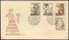 Czechoslovakia 1957 National Costumes FDC First Day Cover #C23301