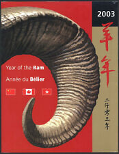 2003 YEAR of the RAM Canada Thematic Collection 116 SEALED + China + Hong Kong