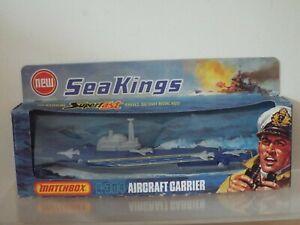Lesney Matchbox Sea Kings K-304 AIRCRAFT CARRIER, Waterline Superfast Wheels