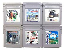 Lot of 6 Original Nintendo Gameboy Games Clean Good for replacement backs