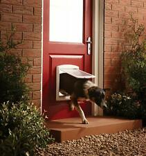 Medium Dog Flap 2 Way Door Gate Entrance Lockable Pet Wall Exit New