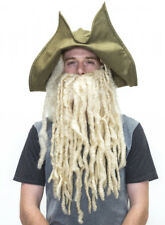 Pirate Davy Jones Costume Hat with Wig and Beard ..perfect pirate material there