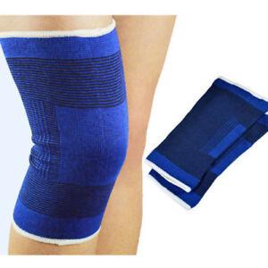 2 Elastic Neoprene Knee Support Protection Sport Sock Running Injury Sprain