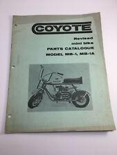 Kawasaki COYOTE MB-1 Parts Catalogue Service Shop Repair Manual Mini Bike