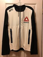 Reebok UFC Hoodie Jacket Zip Up Black/Croyal 100% Authentic Size S New
