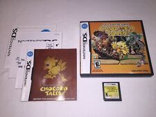 Final Fantasy Fables : Chocobo Tales (Nintendo DS) Complete LN Perfect Mint!