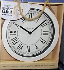 Banbury Hanging Rope wall clock 25 cm   Cream