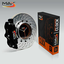 Max Advanced Brakes Cross Drilled Rotor Wall Clock 14""