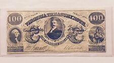 1862 COMMONWEALTH OF VIRGINIA CONFEDERATE $100 BILL (EDUCATIONAL-SCHOOL COPY)
