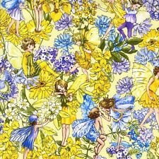 Fat Quarter Day Flower Fairies Cotton Quilting Fabric Michael Miller