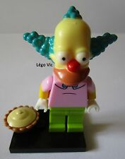 "Légo 71005 Minifig Figurine The Simpson ""Krusty the Clown"" + socle"