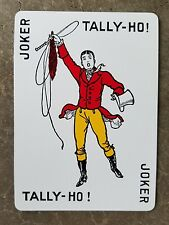 Single Swap Playing Card JOKER TALLY-HO Foxhunting Fox Hunter Vintage #9